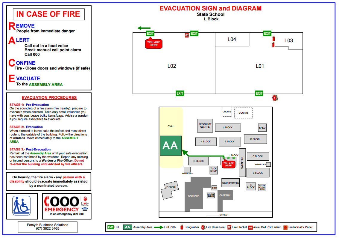 evacuation diagrams forsyth business solutions